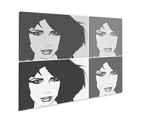 Ashley Giclee Pop Art Portrait, Wall Art Photo Print On Metal Panel, Black & White, 24x30, Floating Frame, AG5815465