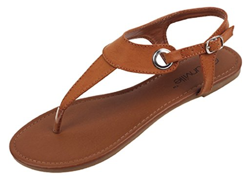 Shoes 18 Womens Roman Gladiator Sandals Flats Thongs 2207 Brown 10