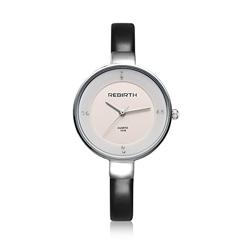 SMEETO Fashion Quartz Watch Women Sale Luxury Sexy Diamonds decoration Genuine Leather (black - 2016 Collection Versace