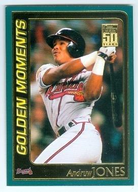 Andruw Jones Baseball Card Atlanta Braves 2001 Topps 790 Golden