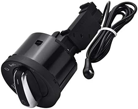 Euteewal Auto Lichtschalter Mit Chrom Auto Sensor Licht Für T5 Golf4 Mk4 Bora Passat 5nd941431b Auto