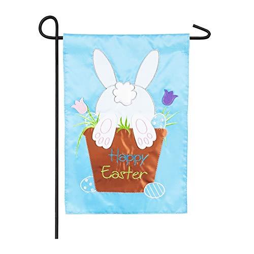 Evergreen Easter Bunny Applique Garden Flag]()