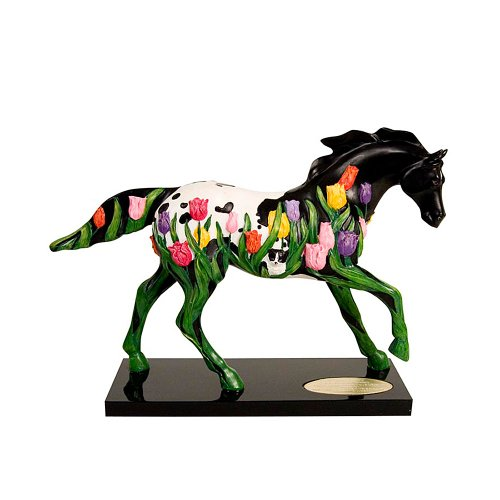 Enesco Trail of Painted Ponies Tip Toe Through The Tulips Figurine 6-1 4-Inch
