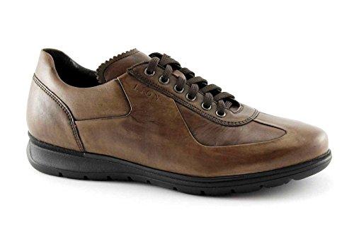 Chaussures Brun 11225 Lion Casual Antistatiques Taupe En Cuir Lacets Marron qwB6PxtC