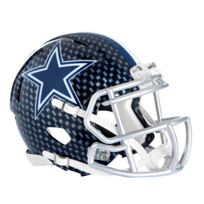 dc225deae Image Unavailable. Image not available for. Color: Dallas Cowboys Riddell  Speed Mini Carbon Blue Helmet