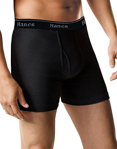 Hanes Ultimate  Mens 5-Pack Best Tagless Boxer Brief with Comfort Flex Waistband, Full-black , Medium  ()