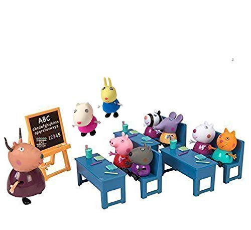 Buy IndusBay Peppa Pig Classroom Playset - with 8 Characters Peppa ...