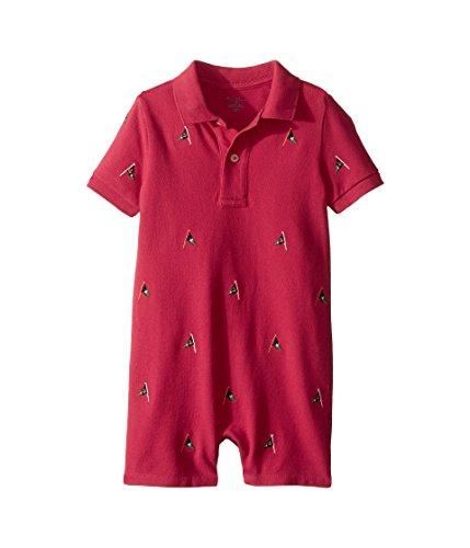 Embroidered Shortalls (Ralph Lauren Baby Boys Embroidered Cotton Shortall Sedona Orange (24 Months))