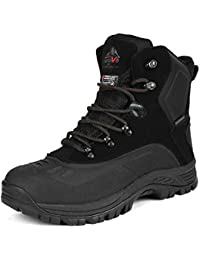 Mens Insulated Waterproof Hiking Winter Snow Boots