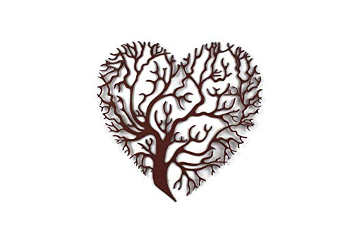 Heart Shaped Tree of Life Steel Plaque ()