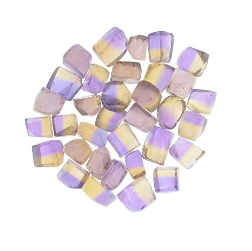 Digging Dolls: 1 Piece of Bi-Color Ametrine Facet Rough 100% Clean Sawn - Perfect for Faceting or Wire Wrapping ()
