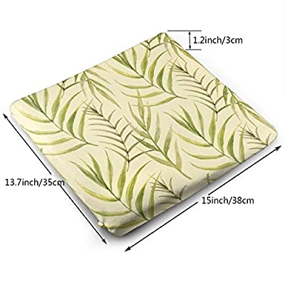 Green Plant Yellow Background Solid Square Seat Cushion Bar Stool Office Chair Cushion Soft for Furniture Decoration Customized: Kitchen & Dining