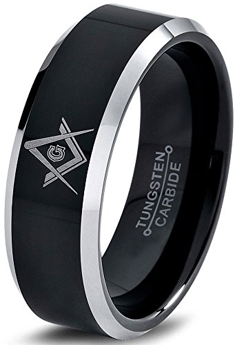 Charming Jewelers Tungsten Wedding Band Ring 8mm...