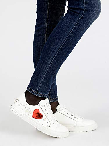 Zapatillas Mujer Piel De Braccialini Bianc Para Sintética 1qz8HfHw