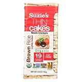 SUZIES Puffed Rice Thin Cakes, Lightly Salted, 4.9-Ounce Bags (Pack of 12) 59 Ounce