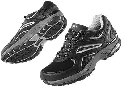Crivit Sports - Zapatillas de Nordic Walking de Cuero para Mujer Schwarz- Grau 37: Amazon.es: Zapatos y complementos
