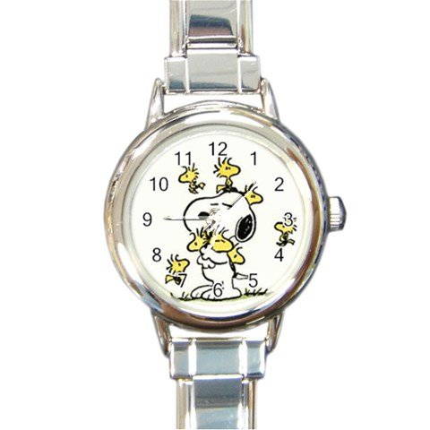 Snoopy Peanuts Woodstocks Hugging: Round Italian Charm (Snoopy And Woodstock Charm)
