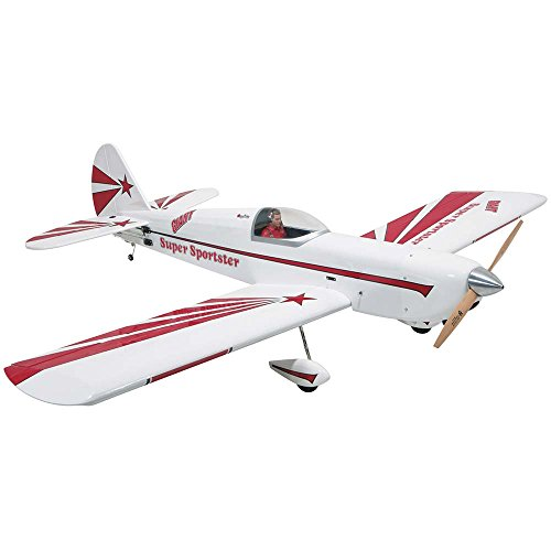 Great Planes Giant Super Sportster Radio Controlled Glow or Gasoline Powered Almost-Ready-to-Fly Sport (Remote Controlled Rc Aerobatic Plane)