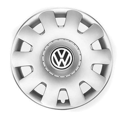 Volkswagen 1j0071455 Rueda Juego de tapacubos, Color Plateado, 15 ...