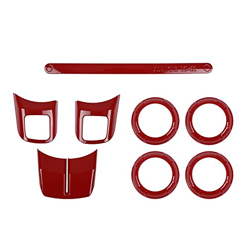 Jeep Wrangler Red Air Conditioning Vent Cover Trim for 2011-2017 Jeep JK & Wrangler Unlimited - 4PCS/Set