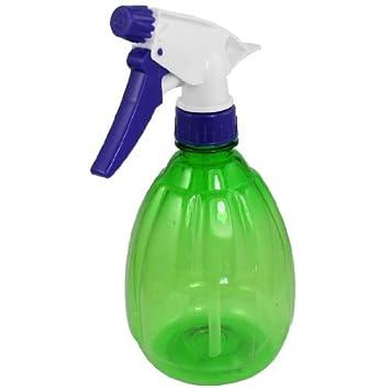 Botella de plástico antideslizante eDealMax Ronda gatillo de pulverización de agua de riego Verde claro 550ml