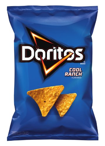Doritos Tortilla Chips, Cool Ranch, 11 Ounce (Pack of 4)
