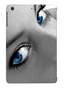 Crooningrose Durable Women Blue Eyes Selective Coloring Back Case/ Cover For Ipad Mini/mini 2 For Christmas