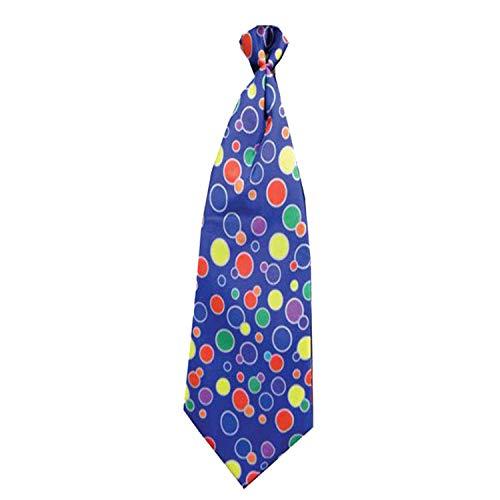 Dress Up America Kids' Big Blue Clown Necktie, Multi Colored, One Size Fits ()