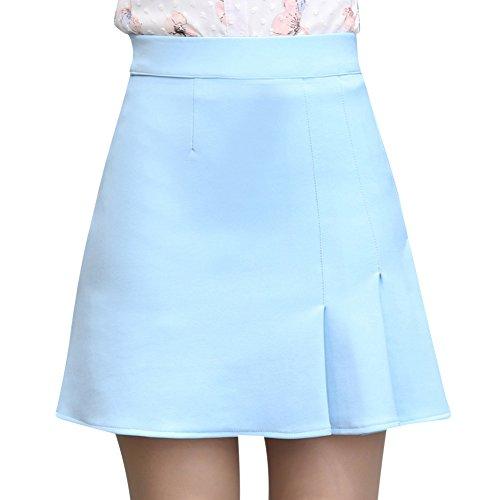 Basique Ecossais Patineuse Bleu Jupe Mini Plisse Plaid Court vas ZiXing Femme Jupe qwgRYI