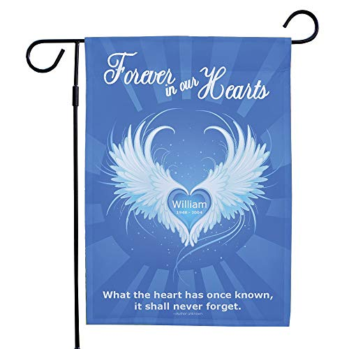 """GiftsForYouNow Printed Forever in Our Hearts Double Sided Garden Flag, 12 1/2"""" w x 18"""" h, Polyester"""