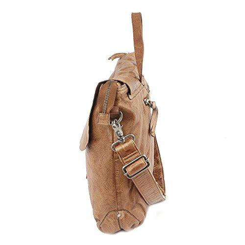 Taschendieb Wien Tasche - Cow Crust Classic - L Shoulderbag - Cognac