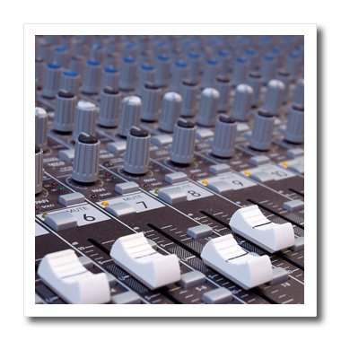 3dRose ht_155066_2 Audio Mixer Board Engineer Knobs Sliders Buttons Studio Recording Iron on Heat Transfer Paper for White Material, 6 by 6-Inch (Mixer Buttons compare prices)
