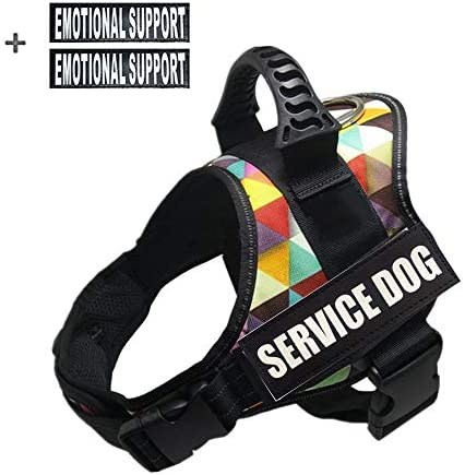 GOLDBELL Service Dog Harness for Service Dogs Soft Mesh Lining Padded Dog Training VestReflective Patches for Small Medium to Large Dogs