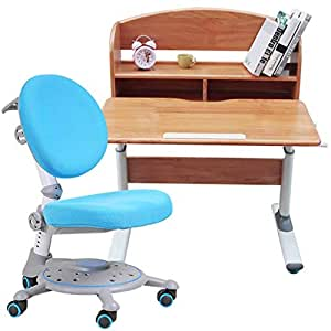 Amazon.com: Table & Chair Sets Household with Bookshelf ...