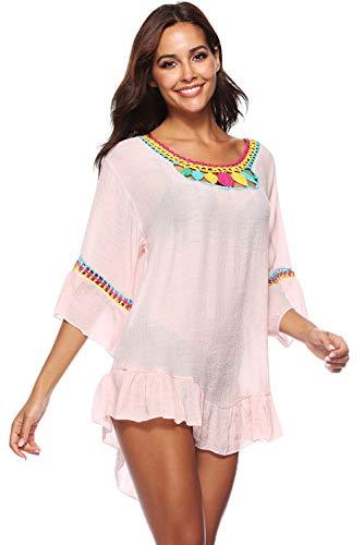 playa Vestido Verano Chic de Bohemia Mujer Hippie Pareo T Sarong 11q5wBrx