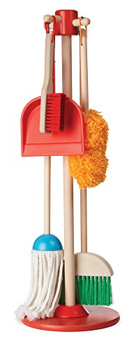 [Melissa & Doug Let's Play House Dust! Sweep! Mop! 6-Piece Pretend Play Set] (8 People Costumes)