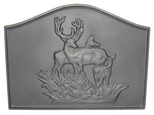 HomComfort CIFBDR Deer Cast Iron Fireback Plates