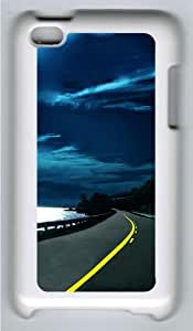 Apple iPod 4 Case and Cover - Highway Nights Custom Design Polycarbonate Hard Hard Plastic Case for iPod 4/ iPod 4th- White