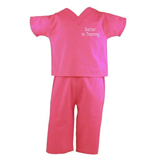 [Scoots Infant Scrubs Doctor In Training, Hot Pink, Size 5] (Doctor Costumes For Toddlers)