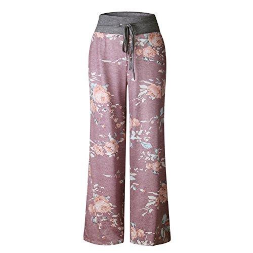 Hop Estivo 06 Leg Hippie Jogging Floreale per Pigiama Pantaloni Trousers Color Jumpsuit Yoga Harem Lungo Vita Alta Chic Hip Larghi Wide Boho Baggy Stampa Palestra Danza Donna Pants Sportivi Pantalone Tuta xpZpAYqwH