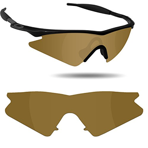 Fiskr Anti-Saltwater Polarized Replacement Lenses for Oakley M Frame Sweep Sunglasses - Various Colors (Bronze Gold - Anti4s Mirror Polarized) -