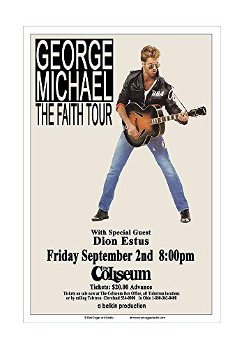 (Raw Sugar Art Studio George Michael 1988 Cleveland Concert Poster)