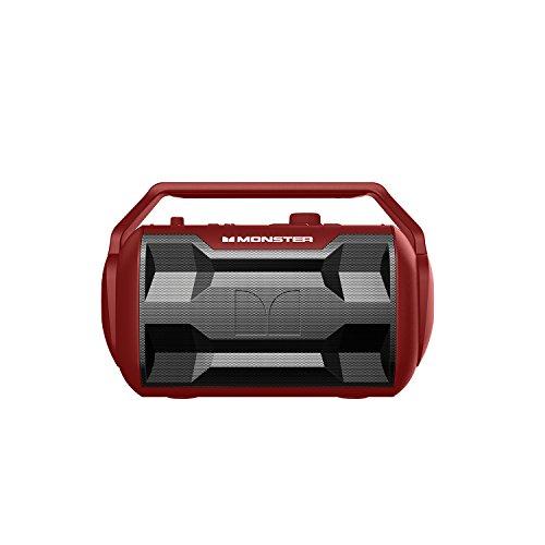 Monster NOMAD 30 Watt, 30 - Hour Portable Water Resistant Outdoor/Indoor Bluetooth Wireless Speaker - Crimson