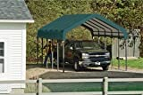 ShelterLogic 12x20x10 Square Tube CarPorts, Green Cover