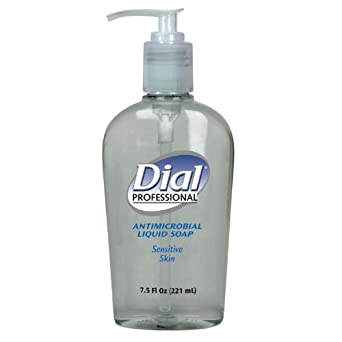Dial Professional 82834 Liquid Dial Antimicrobial Soap For Sensitive Skin Decorative Pump 7.5 Oz. (Case of 12)