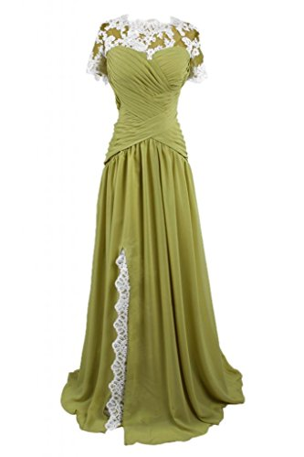 Sunvary militare Verde lungo sera Mother's da abito sera Dress in elegante gioiello raso rrOFq
