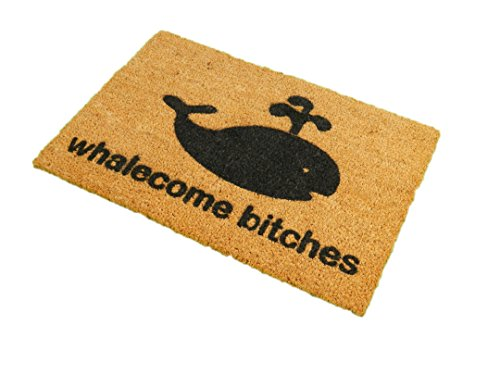 CKB-Ltd-Whalecome-Bitches-Novelty-Doormat-Unique-Doormats-FrontBack-Funny-Door-Mats-Made-With-A-Non-Slip-Pvc-Backing-Natural-Coir-Indoor-Outdoor
