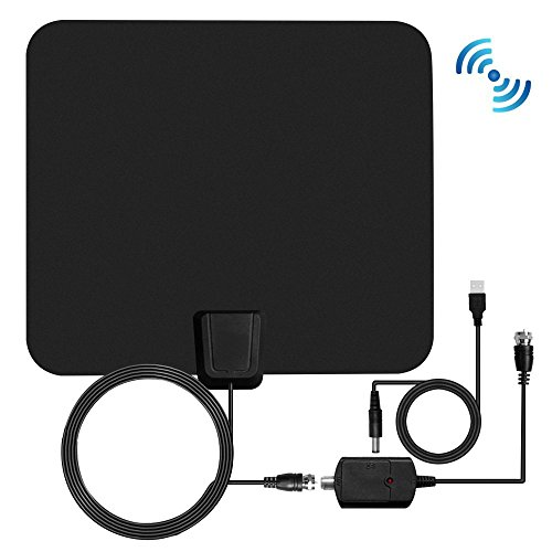HDTV Antenna, 1080P Transparent TV Antenna Indoor with 50 Miles Range, High Reception Digital HDTV Aerial Ultra Thin-Super Soft & Light (Classic (Tv Aerial Reception)