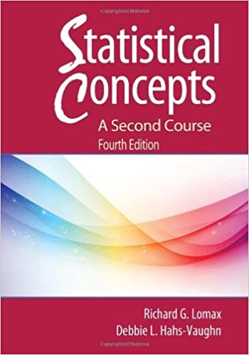 Statistical Concepts: A Second Course by Richard G. Lomax (2012-03-14)