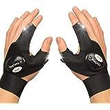 ThxToms LED Flashlights Gloves, Men/Women Tool Gadgets Gifts for Handyman, Fishing, Repair, 1 Pair